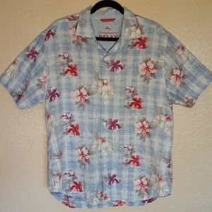 Tommy Bahama Relax Button Up Hawaiian Mens Shirt L